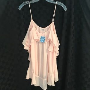 Free People pink blouse size small NEW